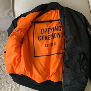 Opening ceremony alpha industries bomber.